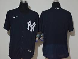 Mens Mlb New York Yankees Blank Dark Blue Flex Base Nike Jersey