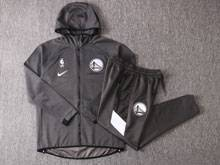 Mens Nba Los Angeles Clippers Gray Wind Coat And Gray Sweat Pants Suit ( Zipper )