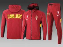 Mens Nba Cleveland Cavaliers Red Wind Coat And Red Sweat Pants Suit ( Hoodie )