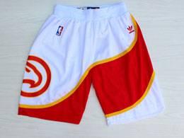 Mens Nba Atlanta Hawks White Adidas Shorts