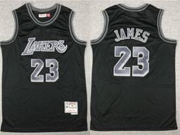 Mens Nba Los Angeles Lakers #23 Lebron James Black Mitchell&ness Swingman Hardwood Classics Jersey