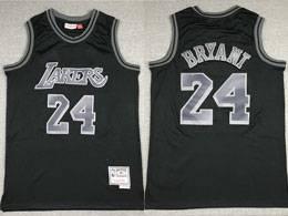 Mens Nba Los Angeles Lakers #24 Kobe Bryant Black Mitchell&ness Swingman Hardwood Classics Jersey