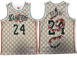 Mens Nba Los Angeles Lakers #24 Kobe Bryant Cream Dendroaspis Polylepis Mitchell&ness Swingman Hardwood Classics Jersey