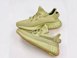 Mens And Women Adidas Yeezy Boost 350 V2 Sulfur Running Shoes One Color