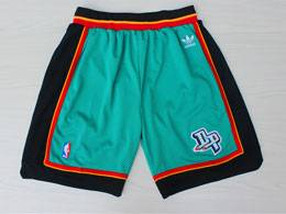 Mens Nba Detroit Pistons Green Adidas Shorts