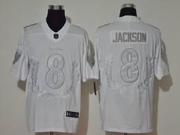 Mens Nfl Baltimore Ravens #8 Lamar Jackson 2020 White Peace Edition Vapor Untouchable Limited Jersey