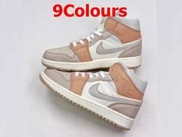 Mens And Women Nike Air Jordan1 Aj1 Mid Running Shoes 9 Colors