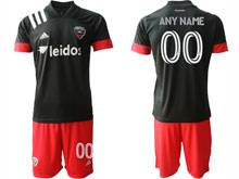 Mens 20-21 Soccer New York Red Bulls Club ( Custom Made ) Black Away Short Sleeve Suit Jersey