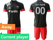 Mens 20-21 Soccer New York Red Bulls Club Current Player Black Away Short Sleeve Suit Jersey