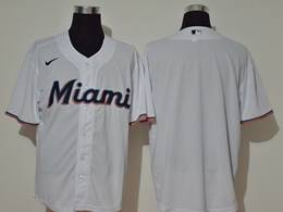 Mens Mlb Miami Marlins Blank White Cool Base Nike Jersey