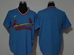 Mens Mlb St. Louis Cardinals Blank 2020 Blue Pullover Cool Base Nike Jersey
