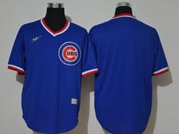 Mens Mlb Chicago Cubs Blank 2020 Blue Pullover Cool Base Nike Jersey