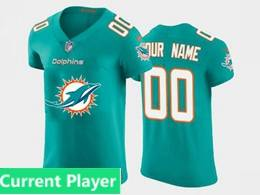 Mens Miami Dolphins Current Player 2020 Green Fashion Logo No Number On Front Vapor Untouchable Jerseys