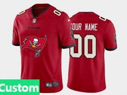 Mens Nfl Tampa Bay Buccaneers Custom Made 2020 Red Fashion Logo No Number On Front Vapor Untouchable Jerseys