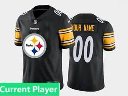 Mens Nfl Pittsburgh Steelers Current Player Black Fashion Logo No Number On Front Vapor Untouchable Jerseys