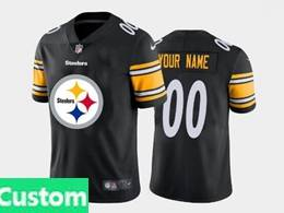 Mens Nfl Pittsburgh Steelers Custom Made 2020 Black Fashion Logo No Number On Front Vapor Untouchable Jerseys