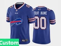 Mens Nfl Buffalo Bills Custom Made 2020 Blue Fashion Logo No Number On Front Vapor Untouchable Jerseys