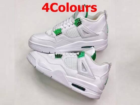 Mens Air Jordan 4 Orange Metallic Running Shoes 4 Colors