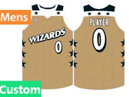 Mens Nba Washington Wizards Custom Made Gold Swingman Jersey