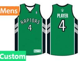 Mens Nba Toronto Raptors Custom Made Green Swingman Jersey