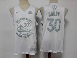 Mens Nba Golden State Warriors #30 Stephen Curry White 2020 Mvp Nike Swingman Jersey
