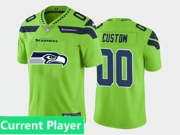 Mens Nfl Seattle Seahawks Current Player Green Fashion Logo No Number On Front Vapor Untouchable Jerseys