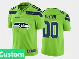 Mens Nfl Seattle Seahawks Custom Made Green 2020 Fashion Logo No Number On Front Vapor Untouchable Jerseys
