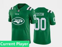 Mens Nfl New York Jets Current Player Green Fashion Logo No Number On Front Vapor Untouchable Jerseys