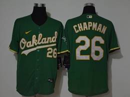 Mens Mlb Oakland Athletics #26 Matt Chapman Green Flex Base Nike Jersey