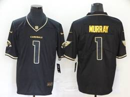Mens Nfl Arizona Cardinals #1 Kyler Murray Black Golden Vapor Untouchable Limited Jersey