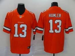 Mens Nfl Denver Broncos #13 Hamler 2020 Orange Color Rush Vapor Untouchable Limited Jerseys