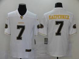 Mens Nfl San Francisco 49ers #7 Colin Kaepernick White Golden Vapor Untouchable Limited Jersey