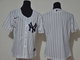 Mens Mlb New York Yankees Blank White Stripe Cool Base Nike Jersey