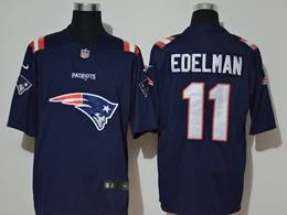 Mens Nfl New England Patriots #11 Julian Edelman Blue 2020 Fashion Logo No Number On Front Vapor Untouchable Jerseys