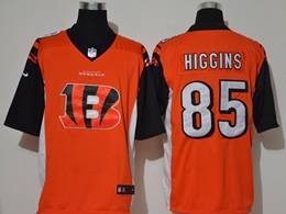 Mens Nfl Cincinnati Bengals #85 Tee Higgins Orange 2020 Fashion Logo No Number On Front Vapor Untouchable Jerseys