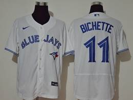 Mens Mlb Toronto Blue Jays #11 Bo Bichette White Flex Base Nike Jersey