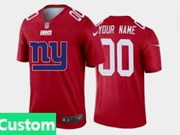 Mens Nfl New York Giants Custom Made Red Fashion Logo No Number On Front Vapor Untouchable Jerseys