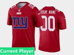 Mens Nfl New York Giants Current Player Red Fashion Logo No Number On Front Vapor Untouchable Jerseys