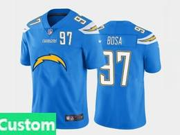 Mens Nfl Los Angeles Chargers Custom Made 2020 Blue Fashion Logo No Number On Front Vapor Untouchable Jerseys