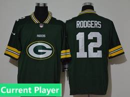 Mens Nfl Green Bay Packers Current Player Green 2020 Fashion Logo No Number On Front Vapor Untouchable Jerseys