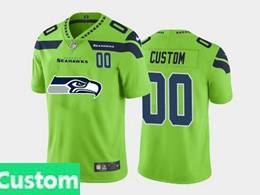 Mens Nfl Seattle Seahawks Custom Made Green 2020 Fashion Logo Vapor Untouchable Jerseys
