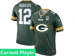 Mens Nfl Green Bay Packers Current Player Green 2020 Fashion Logo Vapor Untouchable Jerseys