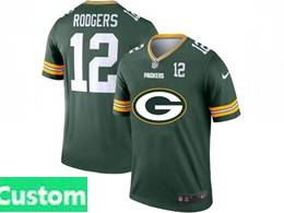 Mens Nfl Green Bay Packers Custom Made Green 2020 Fashion Logo Vapor Untouchable Jerseys