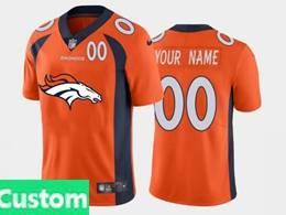 Mens Nfl Denver Broncos Custom Made Orange 2020 Fashion Logo Vapor Untouchable Jersey