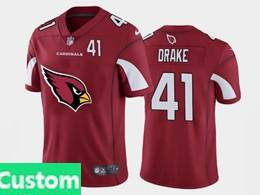 Mens Nfl Arizona Cardinals Custom Made Red Fashion Logo Vapor Untouchable Jersey