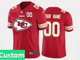 Mens Nfl Kansas City Chiefs Custom Made Red 2020 Fashion Logo Vapor Untouchable Jersey