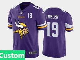 Mens Nfl Minnesota Vikings Custom Made Purple 2020 Fashion Logo Vapor Untouchable Jersey