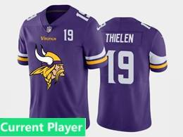 Mens Nfl Minnesota Vikings Current Player Purple 2020 Fashion Logo Vapor Untouchable Jersey