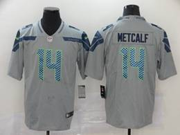 Mens Women Nfl Seattle Seahawks #14 Dk Metcalf Gray Vapor Untouchable Limited Nike Jersey