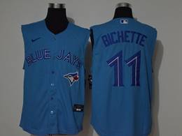 Mens Mlb Toronto Blue Jays #11 Bo Bichette Blue 2020 Sleeveless Cool Base Nike Jersey